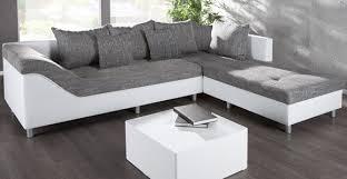 canap d angle blanc et gris canapé d angle blanc gris intérieur déco