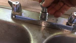 Fixing Dripping Kitchen Faucet How To Fix A Leaky Kitchen Faucet Youtube