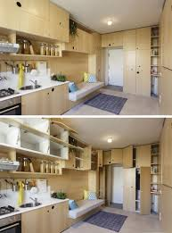 this small apartment is filled with creative ideas to maximize