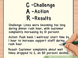 Challenge Action Result Resume Examples by How To Write An Accomplishment Report 15 Steps With Pictures