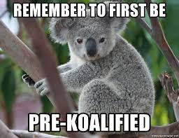 Meme Generator Koala - remember to first be pre koalified koala real estate meme generator