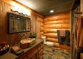 rustic log cabin decor bathroom rustic with log cabin log home