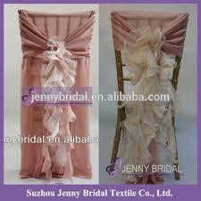 Pink Chair Sashes C006 Dusky Pink Chiffon Chair Sash Fancy Chiavari Chair Ruffled