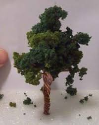 how to make miniature trees for dioramas and model railroads