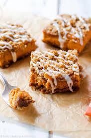 pumpkin streusel bars sallys baking addiction