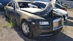 rolls royce motorcycle fire damaged rolls royce wraith selling for u20ac40 000 bargain or