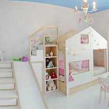 Bunk Bed With Storage Stairs Remodelaholic House Shaped Beds Galore