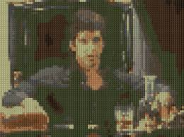 scarface home decor tony montana clip from scarface counted cross stitch pattern
