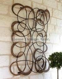 Garden Metal Decor Metal Wall Art Circles Foter