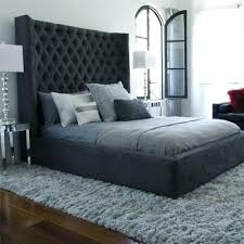 Black Tufted Bed Frame Black Studded Headboard Image Of Black Tufted Headboard Black