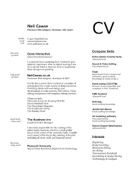 Best Server Resume by Curriculum Vitae Format Of Cv For Job Application Best Food