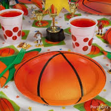 Table Basketball Basketball Party Table Idea Party City