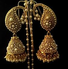 new jhumka earrings designer ethnic paisely pearl kundan jhumka indian adiva