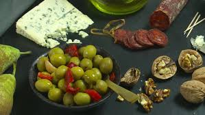 Indian Food Olives From Spain Snacks Food Olives Zoom Out Tapas Food Stock Footage