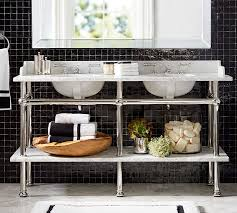 Console Sinks For Small Bathrooms - apothecary double sink console pottery barn