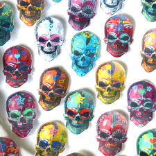 Edible Calavera Sugar Skulls Day of the Dead Voodoo Wafer Paper