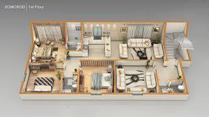3d ground floor plan 3d floor plans pixarch
