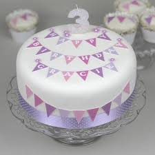christening cake ideas christening cake bunting decoration kit by clever