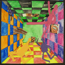 there u0027s a dragon in my art room surreal hallways by grade 5