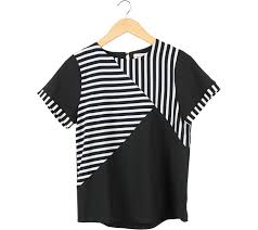 black and white striped blouse is april black and white striped blouse