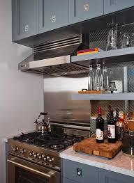 kitchen mirrored backsplash tiles design ideas