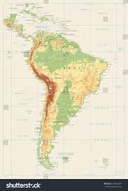 chile physical map south america detailed physical map global stock vector 578392849