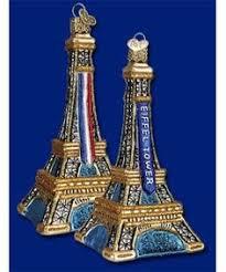 eiffel tower french paris theme christmas tree ornament