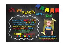 kindergarten graduation announcements dr seuss oh the places preschool kindergarten graduation