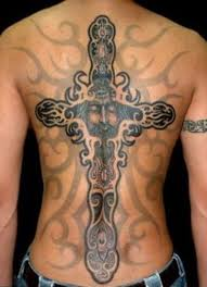 black cross men u0027s back tattoo tattoomagz