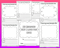 Printable Activity Book 26 Reasons Why I Love You Mom Book Printable Worksheet With Answer