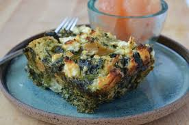 spinach feta strata u2014 three many cooks