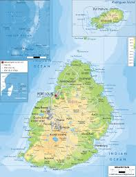 Africa Map Physical by Physical Map Of Mauritius Ezilon Maps