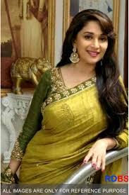 Buy Samantha Bollywood Replica Green Replica Madhuri Dixit Olive Green Saree Rdbs1270