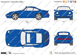 1995 porsche 911 turbo the blueprints com vector drawing porsche 911 turbo 993