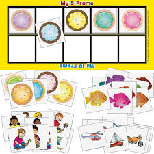 five frame five and ten frame student mats and counters 6 kits