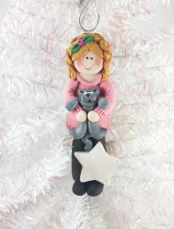 the handmade personalized ornament for the cat lover in