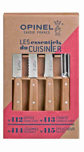 natural 4 essentials knives box set opinel com