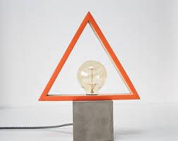 copper decorations table lamp industrial concrete copper