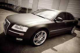 matte black car miami audi a8 matte black car wrap by 3m certified car wrap solutions