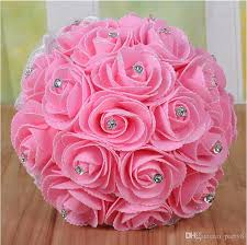 Wedding Flowers Average Cost Low Price Handmade Elegant Bridal Wedding Holding Flowers High
