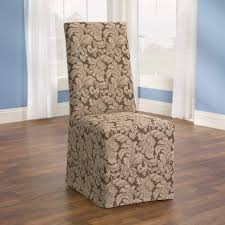 interior gorgeous dining chair covers sure fit scroll room slipcover brown sf36211 plastic back clear au