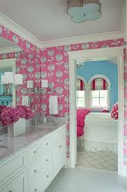 home design sweet and lovely bathroom ideas with pink floral