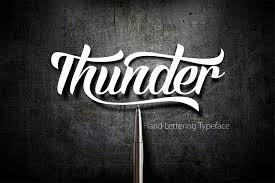 thunder script script fonts creative market