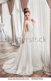 wedding dress in wedding dress bright interiors stock photo 617062508