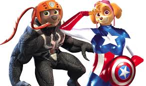 paw patrol venom captain america coloring pages for kids