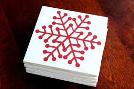 cool christmas 10 ideas to make cool christmas coasters shelterness