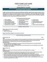 Environmental Technician Resume Sample by Environmental Planner Resume Template Premium Resume Samples