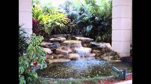 pleasant garden waterfall design 75 relaxing garden and backyard