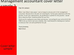 management accountant cover letter