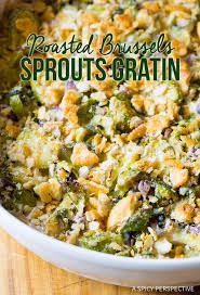 roasted brussels sprouts gratin a spicy perspective